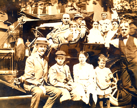 Frank L. Fay & Family with Car