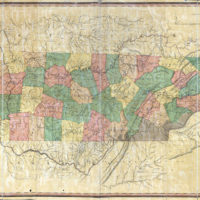 1832 Map of Tennessee, Columbia, TN, Matthew Rhea
