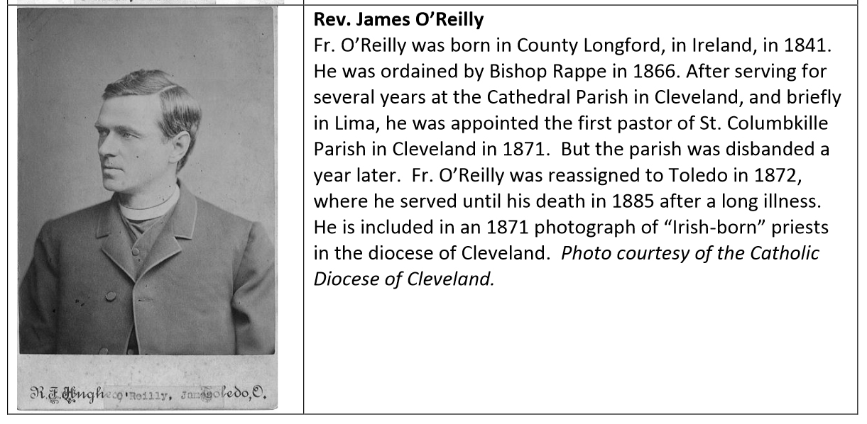 1868-James O'Reilly, Priest who married Patrick and Bridget