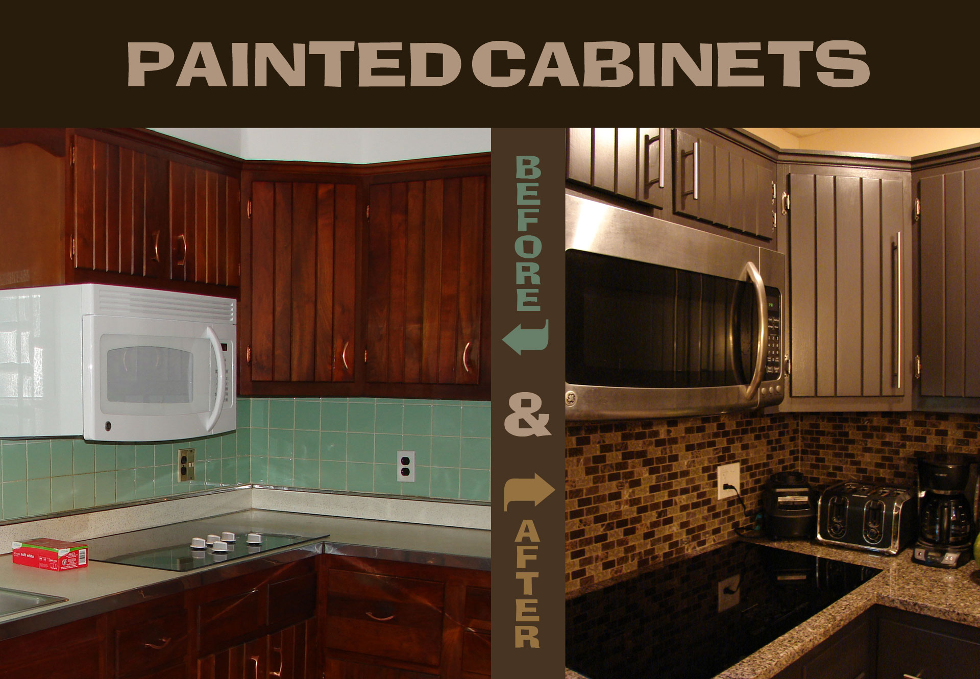 Painted Cabinets, Before and After