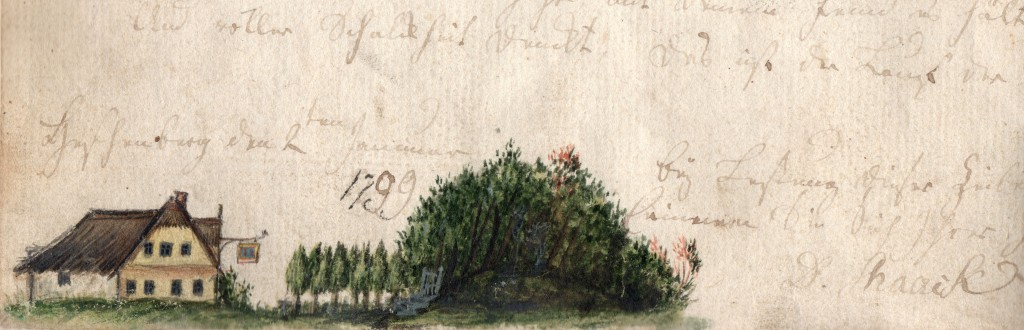 Detail of House Drawing from Blomberg Diary