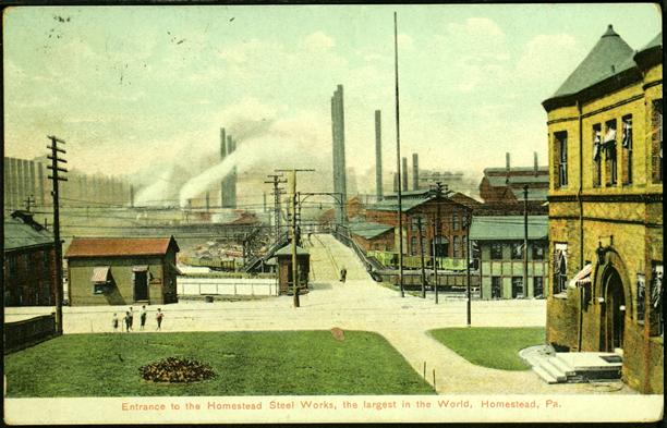 Entrance to the Homestead Steel Works, Homestead, PA