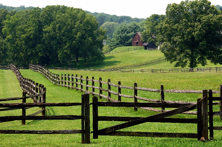 Chester County, PA, Fence and Field, copyright Margaret Walker