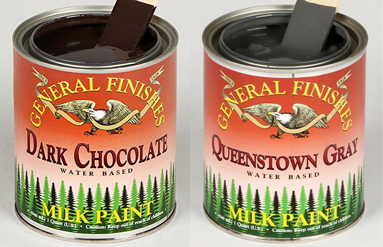 General Finishes Dark Chocolate Combined with Queenstown Gray Milk Paint