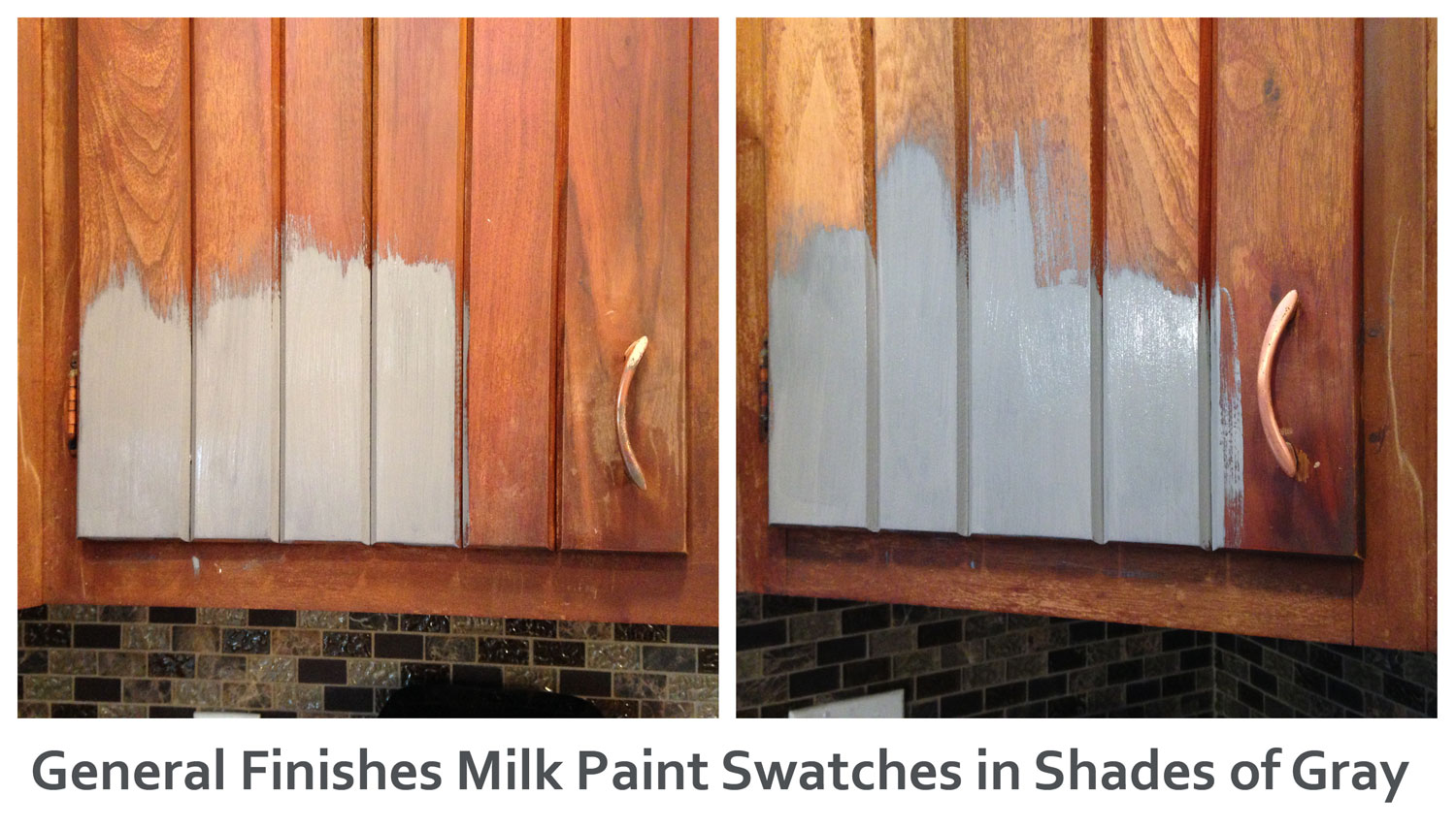 General Finishes Milk Paint Swatches in Shades of Gray