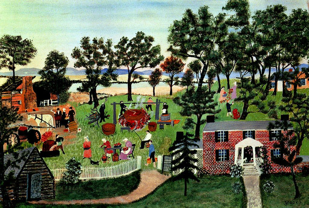 Grandma Moses, Apple Butter Making
