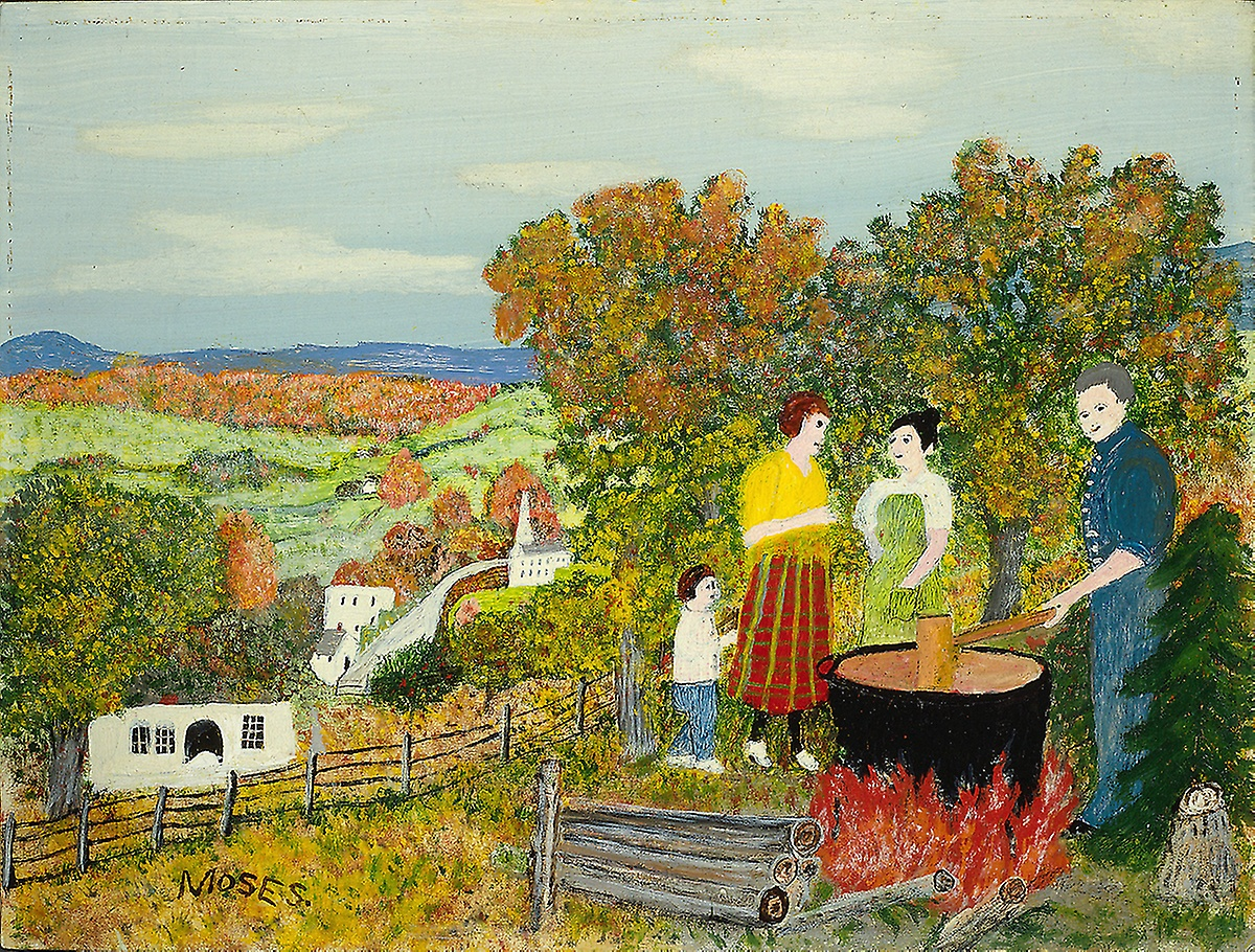 Grandma Moses, Cooking Apple Butter