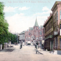 High Street from P.R.R. Depot, Bellefonte, Pa