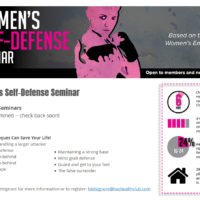 Hockessin Athletic Club, Women's Self-Defense Seminar