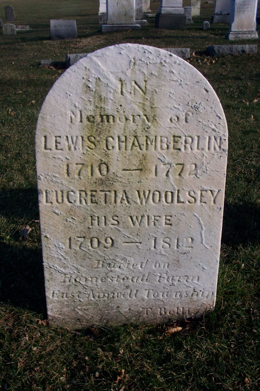 Lewis Chamberlin Tombstone