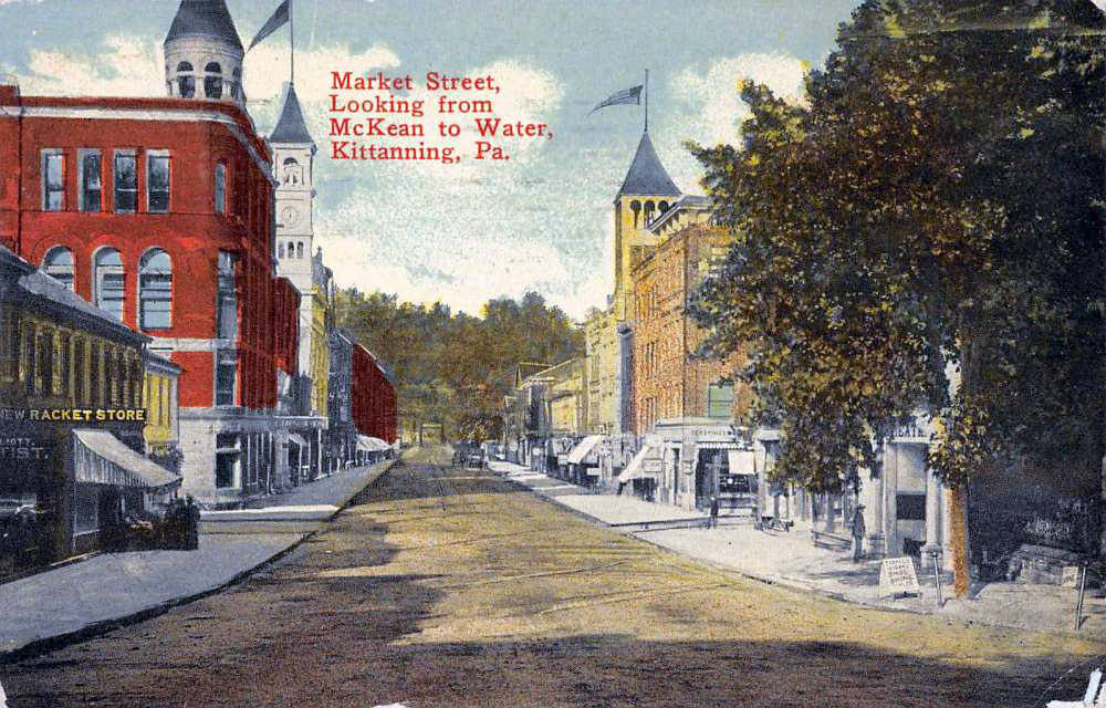 Market Street, Looking from McKean to Water, Kittanning, PA