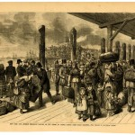 Mormon Emigrants Landing on the Wharf at Castle Garden from Ocean Steamers, 1878