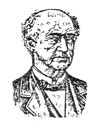 Drawing of Moses Chamberlin from his Obituary