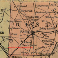 Paris, Henry County, TN, Map, 1888