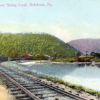 Scene Along Lower Spring Creek, Bellefonte, PA