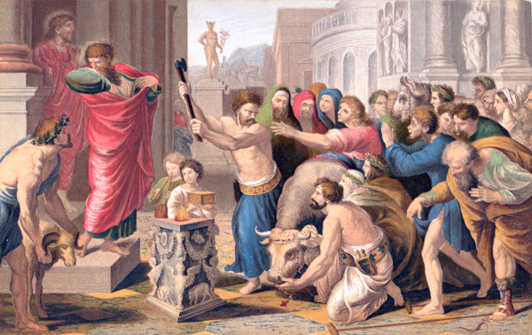 St. Paul Preaching At Athens, Baxter Print
