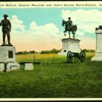 Statues of General Buford, General Reynolds and Hall's Second Maine Battery, Gettysburg, PA