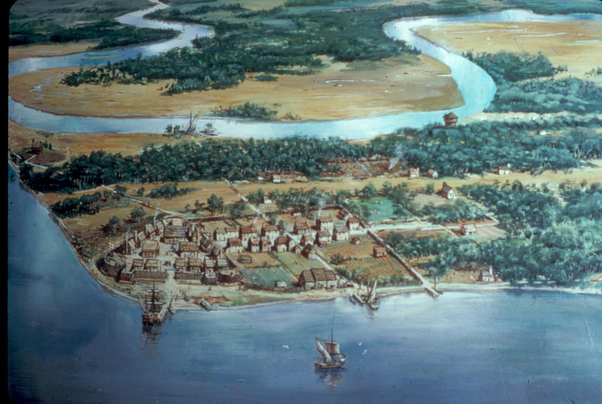 The Jamestown Settlement in the Early Years, ca 1614