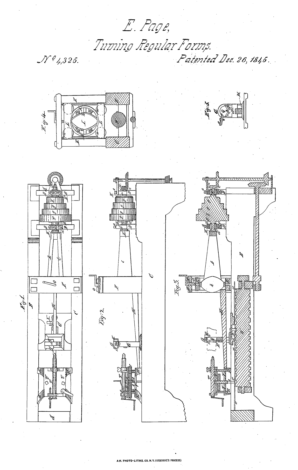 Ezekiel Page's patent for machinery for turning oar handles