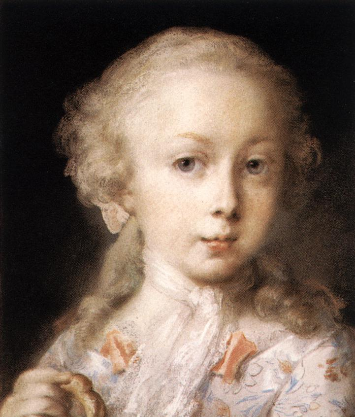 Young Lady of the Leblond Family by Rosalba Carriera 1675-1757